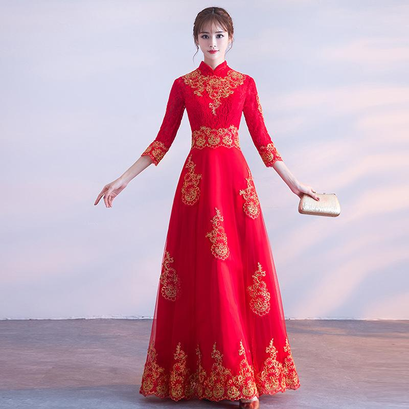 09e524382e Compre A Menina Bonita Vestidos De Formatura Vestidos De Formatura Roupas  De Brinde Roupas De Casamento Vestido De Estilo Chinês Vestido De Noite  Favores ...