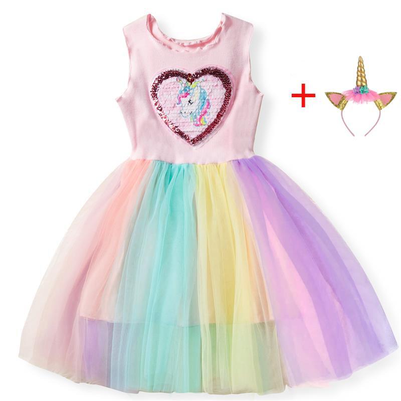 c52ed4400a94c 2019 Summer Girls Dress Fancy Star Design Unicorn Dress Princess Unicornio  Party Dresses Kids Dresses for Girl Easter Costume