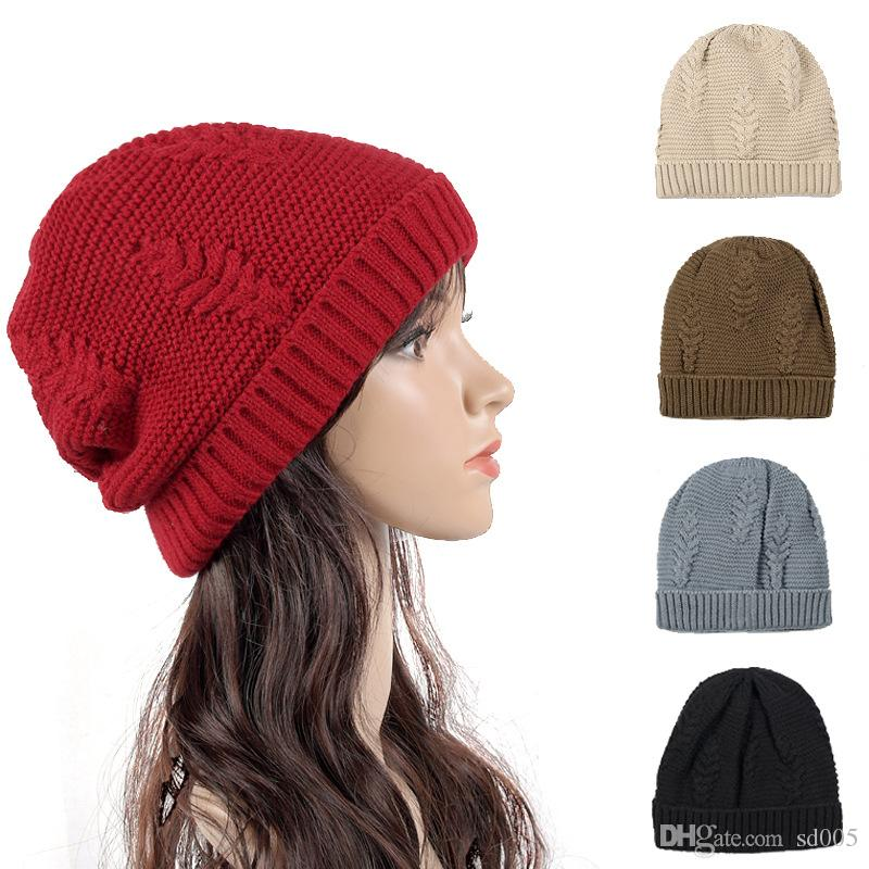 Simple Winter Travel Cashmere Wool Hat Europe And America Elastic ... bcb532f9015