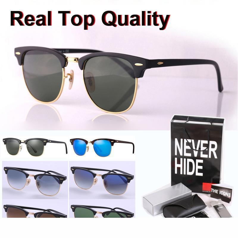 16 Colors Cat Eye Brand Sunglasses for Men Women Semi Rimless Sun Glasses plank frame glass lens with original box, accessories, everything!
