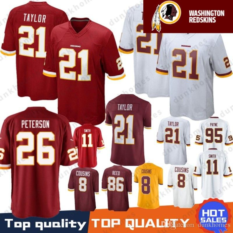 2019 26 Adrian Peterson Washington Redskins Stitched Jersey 21 Sean Taylor  11 Alex Smith 72 Eric Fisher 86 Reed 8 Kirk Cousins 29 Guice 95 Payne From  ... 93c0729b6
