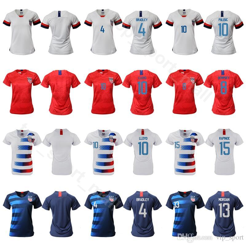 wholesale dealer 26b13 839c9 Women Crystal Dunn Jersey 19 Soccer Lady 8 Julie Ertz 10 Carli Lloyd 13  Alex Morgan 15 Megan Rapinoe Football Shirt Kits Uniform
