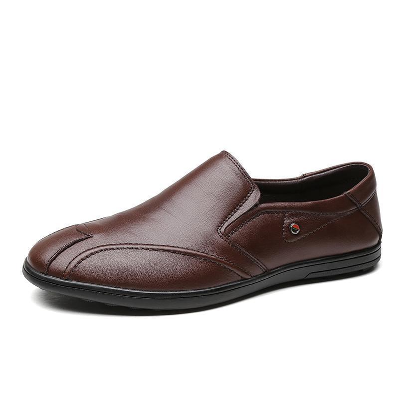 16aaf8eb9c Compre Hombres Mocasines Primavera Otoño Hombre Zapatos Casuales Cuero  Genuino Conducción Marrón Negro Hombre Pisos Calzado Casual Tallas Grandes  A  57.19 ...