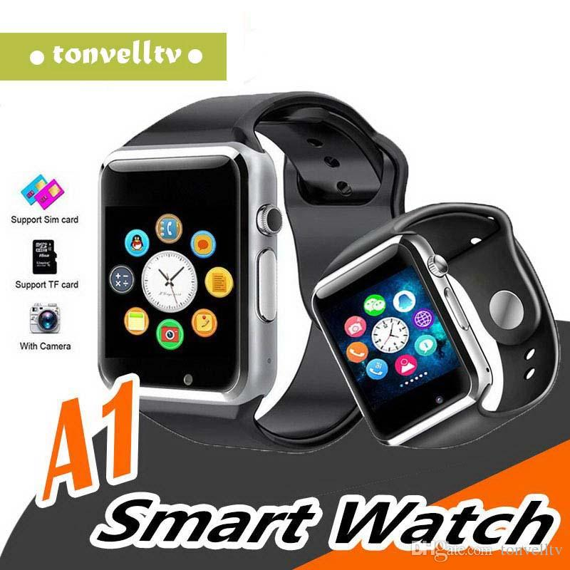 A1 smartwatch Smart Watches Low Price Bluetooth Wearable Men Women Smart Watch Mobile with Camera for Android Smartphone Smartwatch Camera