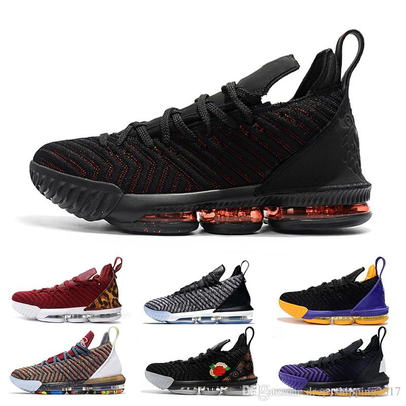 hot sale online 42e5c 93f74 Acheter NIKE LeBron James 16 Fresh Bred 16s Chaussure De Basket Ball Multi  Couleur King Court Pourpre Oreo I Promise Lakers 16 XVI Baskets De Créateur  ...