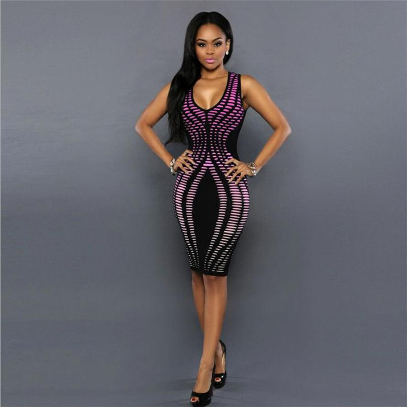 9a2faac0fc52 2019 Women Clothing Dress African 2019 Sexy Ladies Club Dress For Party  Africa Bodycon Pencil Sleeveless Sheath Color Changing Dress From  Shesheqiu, ...