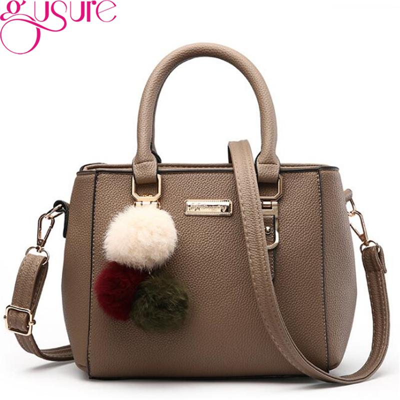 Gusure Luxury Women Top-handle Handbags High Quality PU Leather ... 37df668448d46