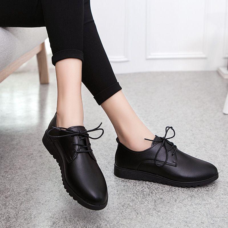 b13132ffd1b8 2019 2017 Korean Walking Shoes Small White Shoes Flat Low Heeled ...