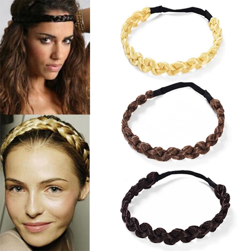 82f0eaceb74 MISM 2CM Wig Headband Braids Hair Accessories Women Hairstyle Plait Braided  Hair Band Girls Elastic Hairband Female Headwear Jewelry Headband Jewelry  ...