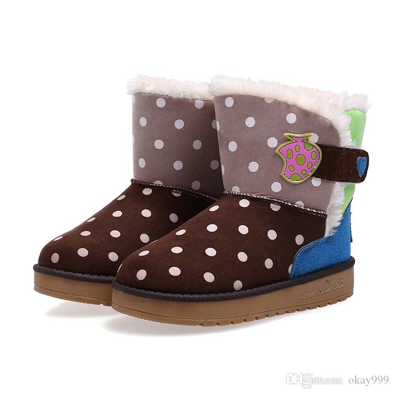 a5bb462e0b57c Winter High Help Child Kids Boots Girls Botte Enfant Fille Boy Cotton Shoes  2019 Winter New Plus Velvet Thicken Keep Warm Snow Boots Childrens Winter  Boots ...