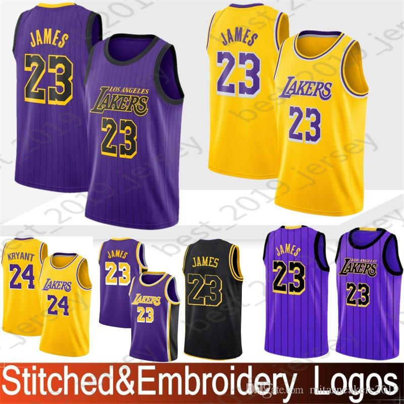 best cheap cfbe5 a0d87 Los Angeles 23 James LeBron Lakers Jerseys 14 Ingram Brandon 2 Ball Lonzo 0  Kuzma Kyle 24 Bryant Kobe Top quality Jerseys
