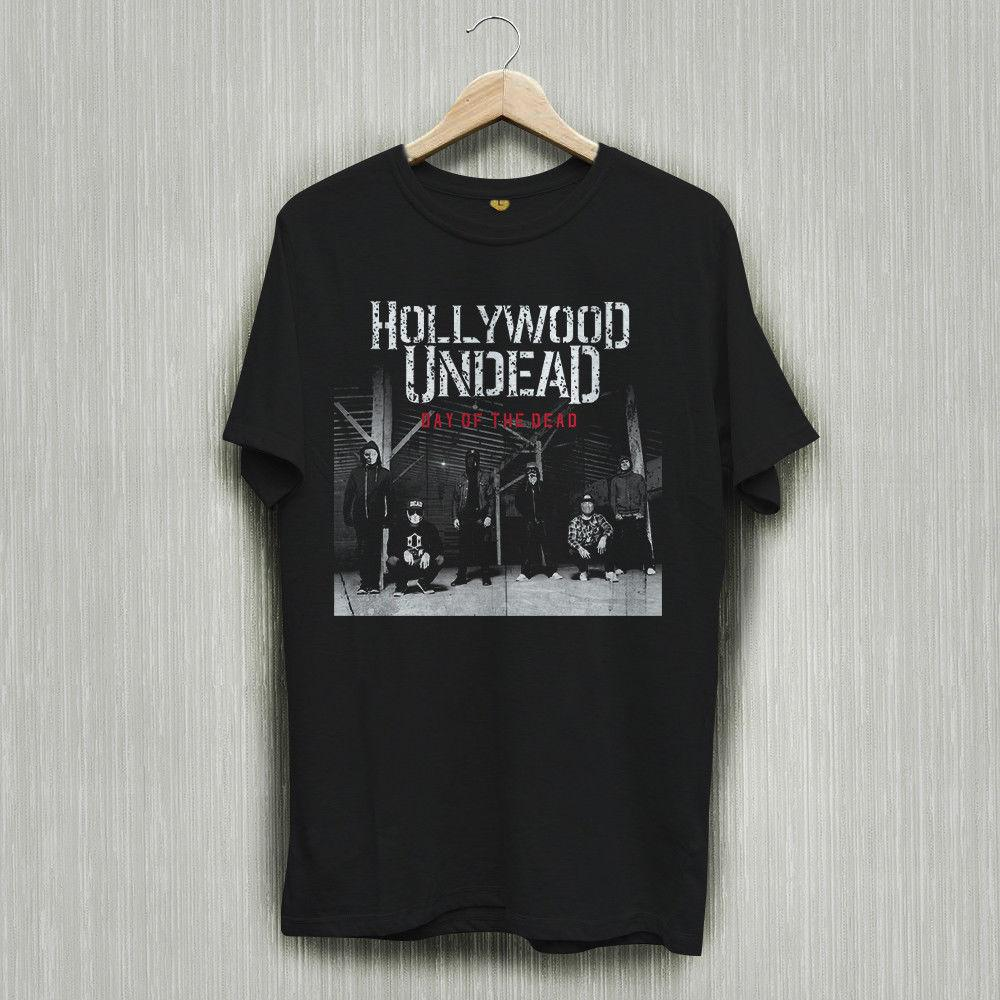 59b12f45ff5d3 Hollywood Undead HU Day Of The Dead Black T Shirt Shirts Tee S 2XLFunny  Unisex Casual Tshirt Top Online Shopping T Shirt Cool Shirts Online From  Teeaddict