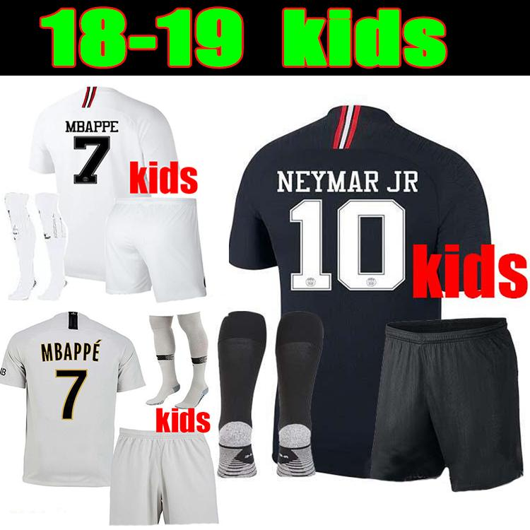 858ec414018 2019 2018 19 Psg MBAPPE Champions Jersey CAVANI KIMPEMBE VERRATTI Psg Kids  Kit UCL Black White Child Football Uniform Psg Maillot De Foot Court From  Chen li ...
