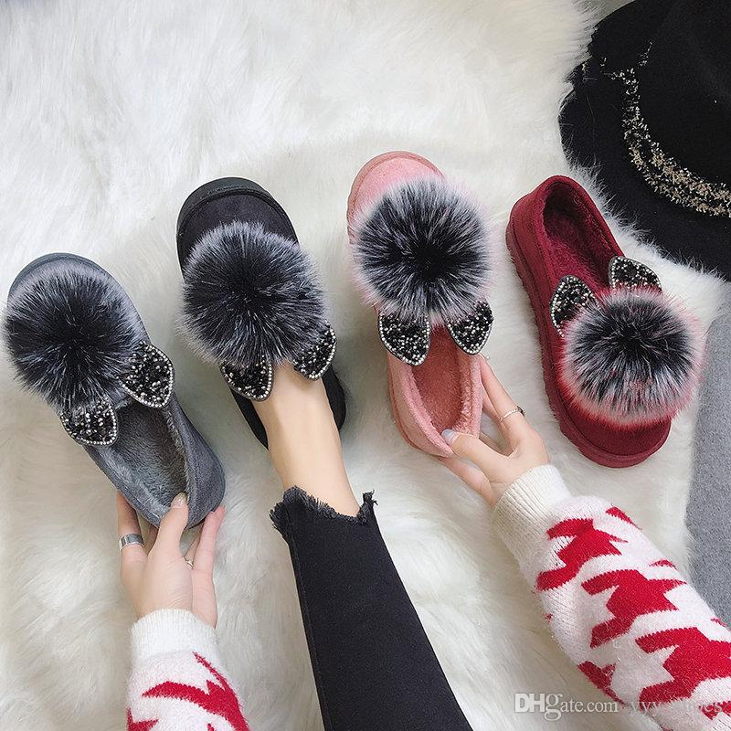 43413001cd6e4 Winter Female Womens Gril Shoes Gommino Single Shoes Brushed Suded ...