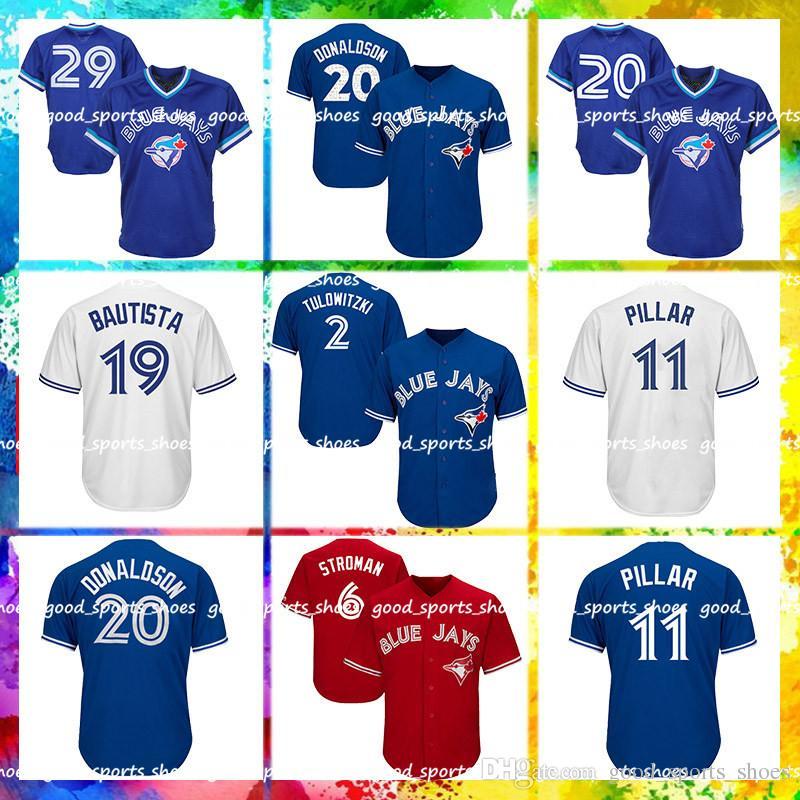 050f483c1fb 2019 Toronto Blue Jays Jersey 6 Marcus Stroman Jersey 20 Josh Donaldson 29  Joe Carter 19 Jose Bautista 11 Kevin Pilar From Good sports shoes