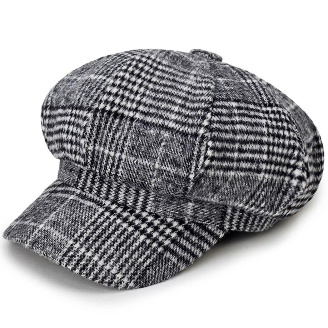 Compre Outono Inverno Quente Cap Octagonal Newsboy Hat Moda Estilo  Britânico Unisex Xadrez Cap Beret Jornaleiro Boina Detetive Chapéus Chapeau  De Wonderliu a725d71dbd0