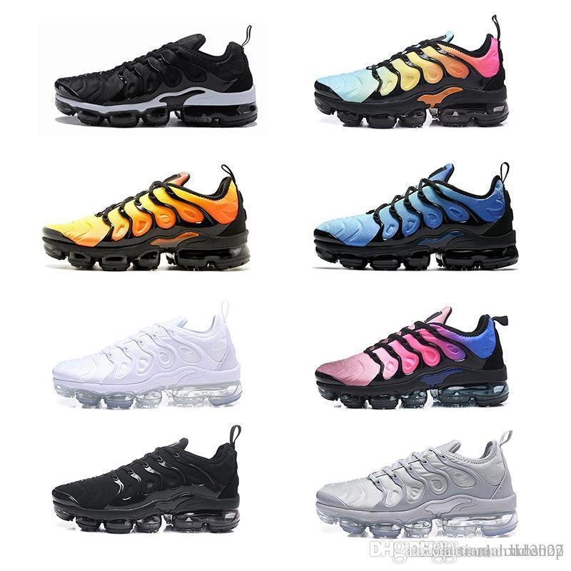 buy popular 01de9 a522d Compre Nike Air Max Off White Flyknit Utility Vapormax TN Plus 97 Plus Men  Sapatos De Corrida Preto Choque Laranja Brown Camada Bolo TN Mulheres  Designer De ...