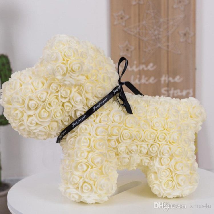 2019 горячие продажи шиповник мыльная пена цветок искусственный Новый год подарки для женщин Валентина подарок с коробкой 38 * 25 * 30 см