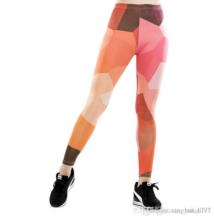 a4bfc961e73 Women Yoga Trousers Pants Digital Printing Digital Striped ...