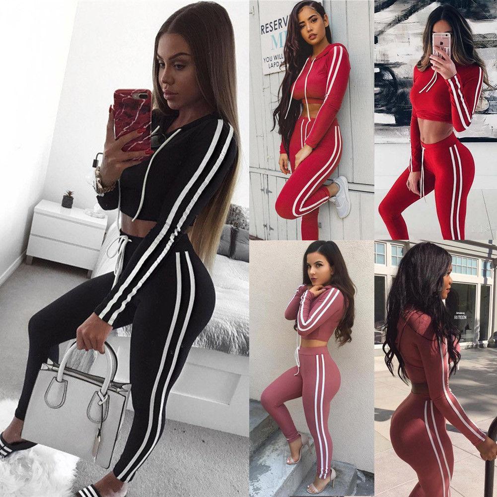 5e84ad47015e 2019 2019 Newest Hot Womens Sport Gym Long Sleeve Vest Bra Sport Legging  Pants Ladies Outfit Wear Set From Litchiguo, $27.19 | DHgate.Com
