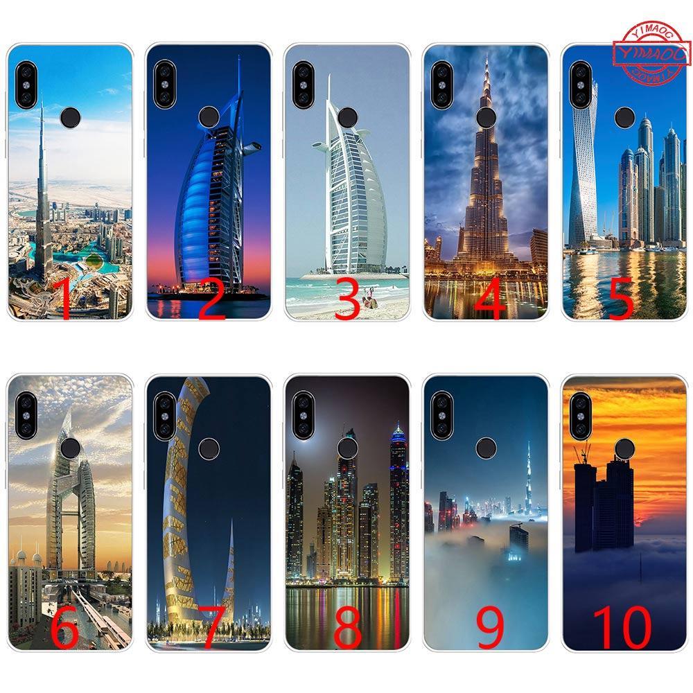 Dubai City Architectural landscape Soft Silicone TPU Phone Case for Xiaomi  Mi A1 5X 6 6X 8 SE Mix 2S A2 Lite Cover