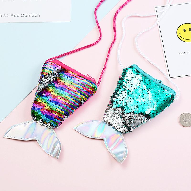 Girls Small Mermaid Sequins Coin Purse For