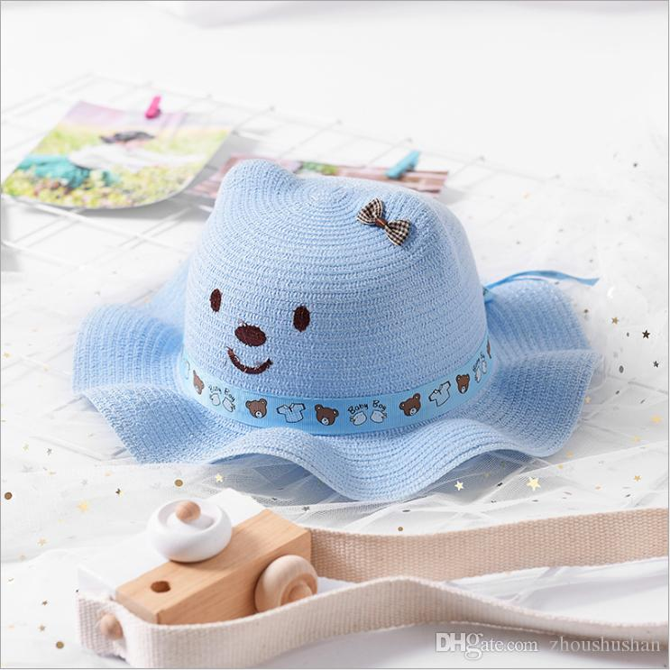 Baby Toddle Kids Funny Paper Straw Hat Custom Cute Ear Bear Children Hat  Animal Theme Party Hat Tilley Hats Mens Hats From Zhoushushan b458a681c1c
