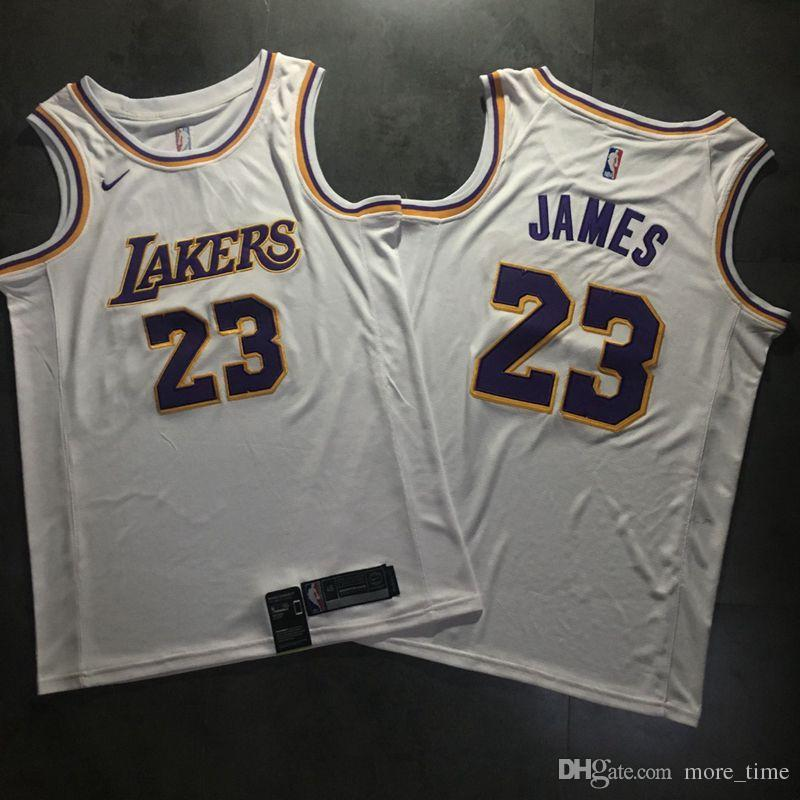 new style ad019 25f42 Mens LeBron James Alternate Swingman Jersey High Quality Los Angeles Laker  LeBron 23 James Authentic Basketball Jersey Dense Embroidery