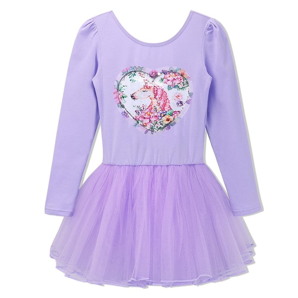 58fce0ab5e7a 2019 BAOHULU Long Sleeve Kids Ballet Dress Unicorn Sequines Tutu Dance  Costume Cosplay Girls Leotard Ballerina Dance Wear Purple Pink From  Xiayuhe, ...