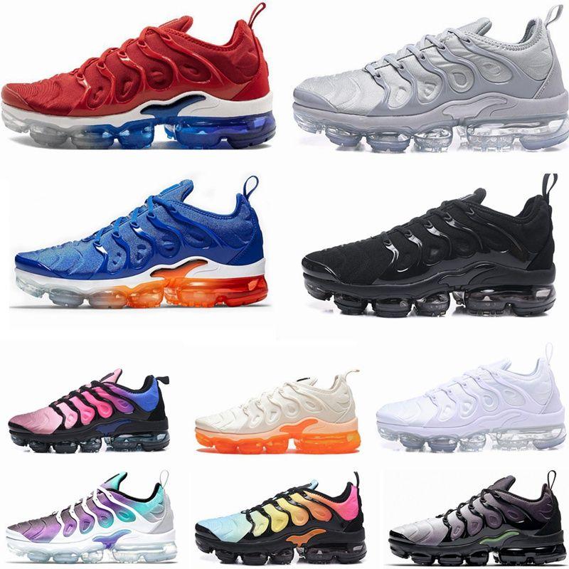brand new 947c2 9cf3d Acheter Nike Air Max Vapormax 2019 Plus TN New Olive Hommes Sneakers Plus  Nylon Métallisé Blanc Argent Colorways Pack TN Triple Sport Noir Hommes  Chaussures ...