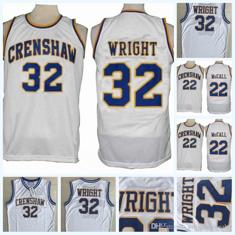 01da111e3c72 2019 Mens Love And Basketball Movie Jersey 22 Quincy McCALL 32 Monica  Wright Crenshaw High School Movie Stitched College Basketball Jerseys From  ...