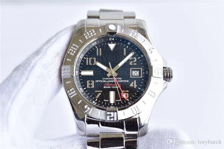 buy popular 9ed97 7efc2 Luxury Sapphire Avenger II GMT A3239011/BC34 Watches 316L Steel ETA2836  movement 43mm Automatic Men's Watch top Watches 1 year warranty