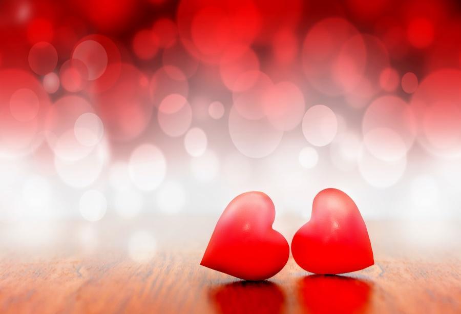 2018 laeacco photo backdrops dreamy valentine s day love heart polka