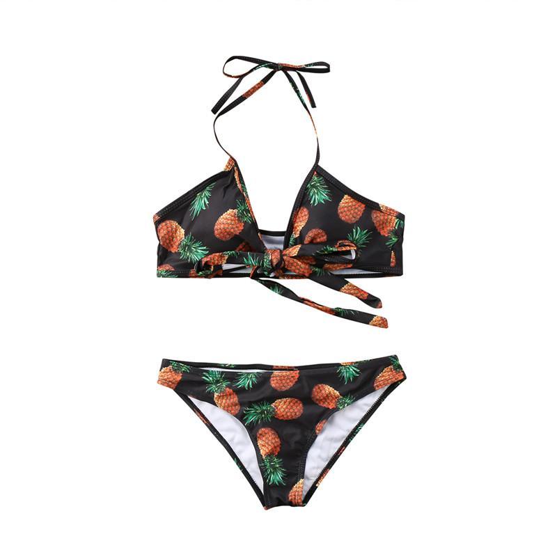 Womail Женщины Купальники 2018 Бандаж печати купальник Sexy Bikini Set Push-вверх Мягкий бюстгальтер для купания пляжной одежды