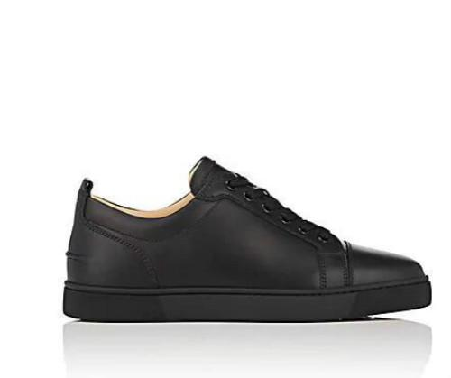 uk availability d85a6 a83ca Low top red bottom sneakers for mens Luxury black leather&Spikes fashion  casual mens womens shoes 2019 Designer leisure big size EU47