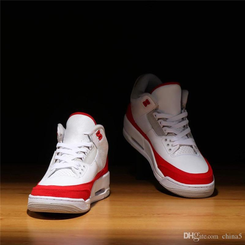 a74bba0bb83ea3 2019 2019 Hottest Originals Air JTH 3 Tinker CJ0939 100 White Red  University Katrina Men Women Basketball Shoes 3S Authentic Sports Sneakers  From China5