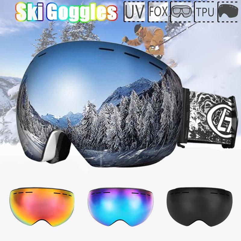 Compre New 3 Cor Óculos De Esqui Dupla Lente De Proteção UV Anti Nevoeiro Adulto  Snowboard Esqui Óculos Mulheres Homens Neve Eyewear Frete Grátis De Dinaha,  ... 0cacd16033