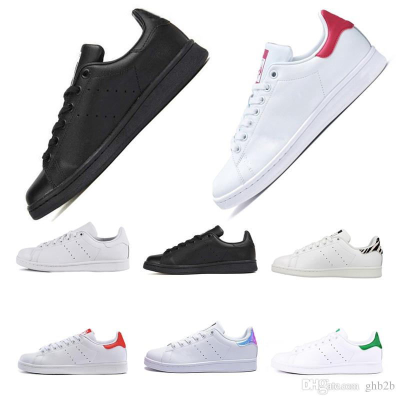 sports shoes dedc3 eaba4 2019 men woemn Cheap stan smith classic Triple black white red gold Casual  shoes smiths mens outdoor leather sports trainer sneakers 36-45