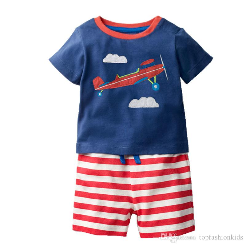 4b4817c9e474 2019 Kidsalon Children Summer Clothing Sets Boys Clothes Kids Cotton Short Outfit  Baby Girls Clothing Tracksuit With Animal Applique 2 7T From ...