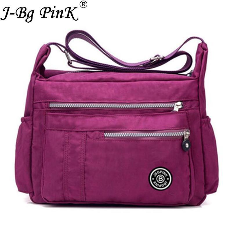 2019 Fashion J BG PinK Women Famous Brand Big Nylon Shoulder Beach Bag  Casual Tote Female Crossbody Bags Sac Femme Bolsa Feminia 2017 New Leather  Purses ... 5d3d1ff7a8ef1