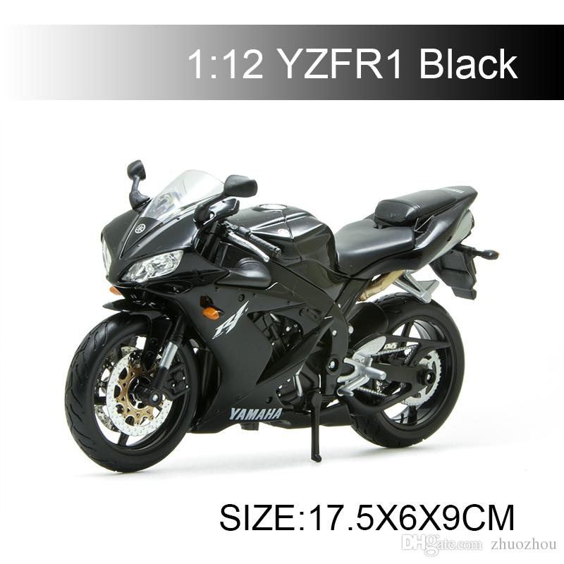 1 12 Scale Yzf R1 Black Motorcycle Model Metal Diecast Models Motor Bike Miniature Race Toy For Gift Collection