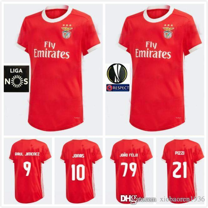 big sale 8d93c 5ed94 19 20 Benfica soccer jerseys HOME AWAY 2019 2020 #79 JOAO FELIX RAFA Pizzi  Salvio SEFEROVIC #10 JONAS Raul Jimenez GRIMALDO FOOTBALL SHIRTS