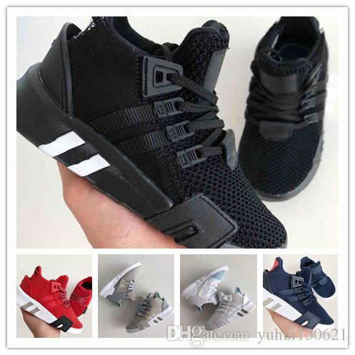 check out 2e01d c317f kids new EQT Bask Support Future 93 17 Triple White black pink sport shoes  Sneakers Running Knit Chaussures Designer Trainers