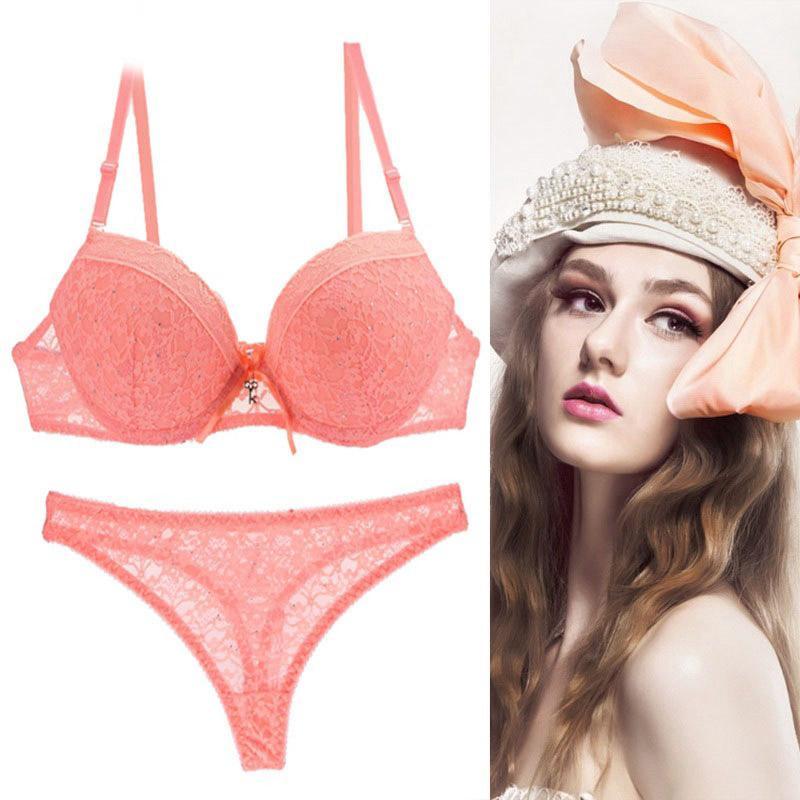 5087b7a3299 2019 Bra Set 2018 Quality Underwear Women Lace Bra Set Plus Size Lenceria  Sexy Push Up Convertible Straps Rhinestone Lingerie Set From  Chengdaphone02