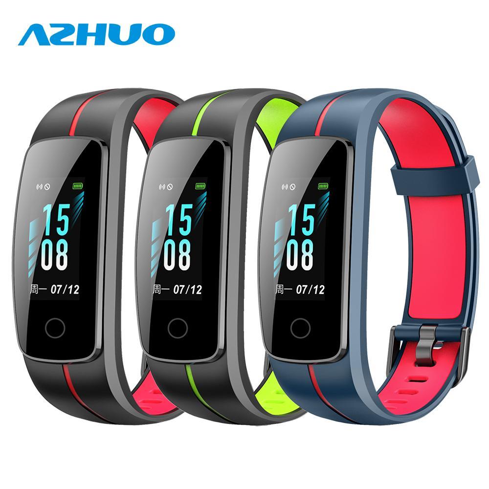 4edab7538f15 Precio De Reloj Inteligente AZHUO ID107 Plus Color HR Impermeable Pulsera  Inteligente Monitor De Ritmo Cardíaco Actividad Sueño Gimnasio Rastreador  Pulsera ...