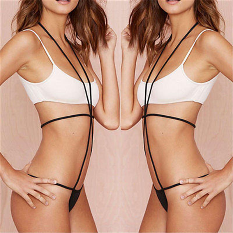 2017 Sexy Ladies Hot Beachwear Patchwork Donne Beachwear bagno dello swimwear Bikini Push Up Bra Bandage Suit costume da bagno Biquni