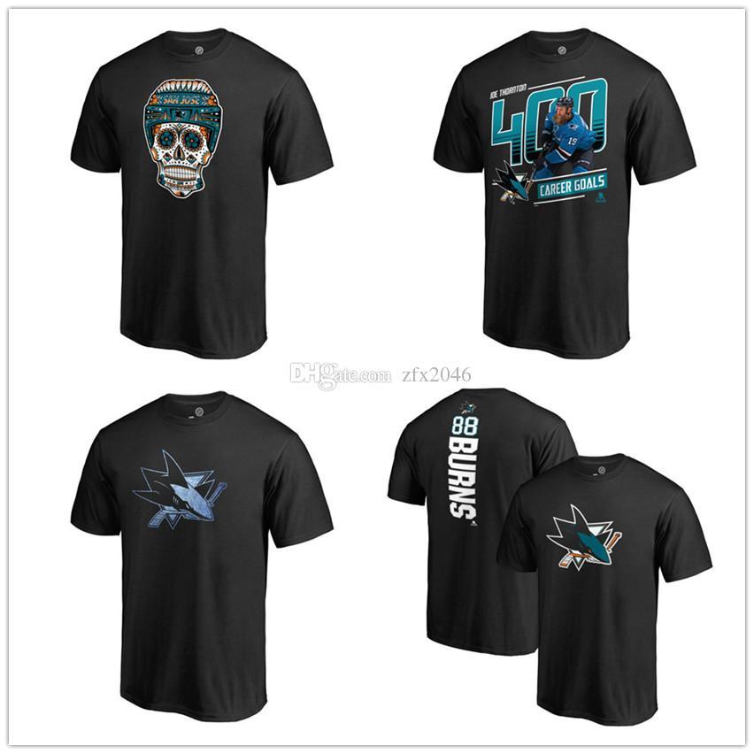 timeless design af25a 4cff6 Men's San Jose Sharks T-Shirt Fanatics Branded Banner Wave 2019 Playoffs  short sleeve shirt Hockey Fans Tops Tees Printed Team Brand Logos