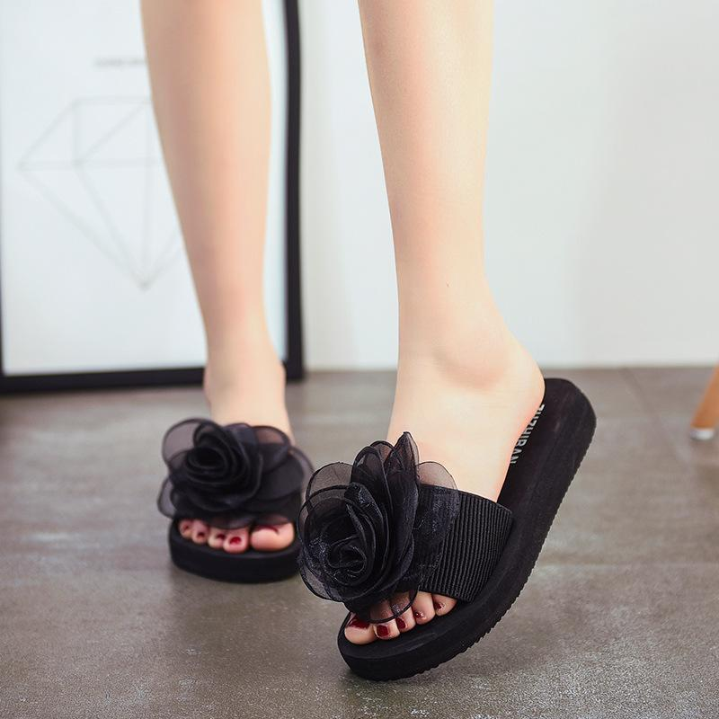 25ea89d31 Big Size 2019 Summer New Wild Rose Slippers Female Korean Casual Foam Beach  Sandals And Slippers Women S Shoes Slipper Dress Shoes From  Amoybasketballshoes