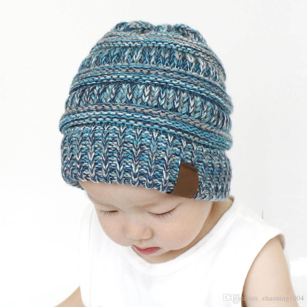 Children Winter Beanie Rib Knitted Beanies Baby Fancy Head Ear Warmer  Slouchy Snow Cap For Kids Cable Knitted Gorro Gift Baby Caps Winter Baby  Hat Beanie ... 794d0f6d10c