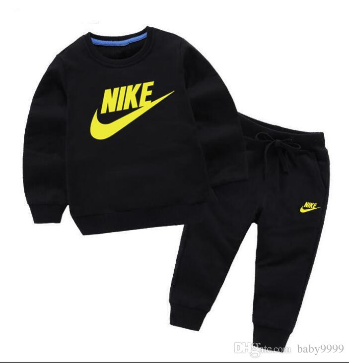 841f11cd3a HOT Brand NIKE New Style Children s Clothing For Boys And Girls Sports Suit  Baby Infant Short Sleeve Clothes Kids classic Set 2-7 Age
